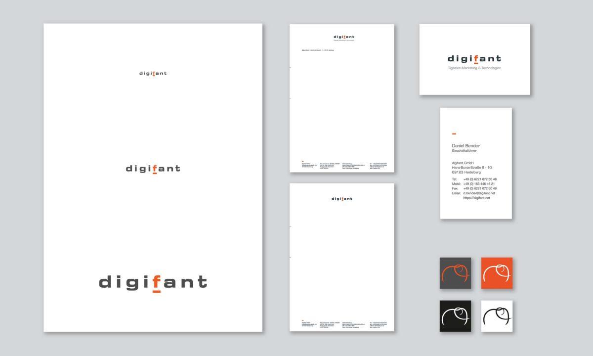 Geschäftsausstattung der digifant GmbH